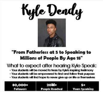 NOTICE...Kyle Dendy Venue has Changed!!