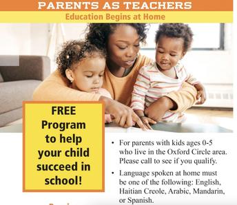 Parents as Teachers (PAT)- Calling all Oxford circle parents