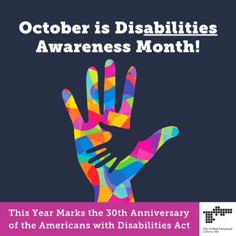 OCTOBER WAS DISABILITY HISTORY AWARENESS MONTH