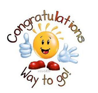 Congratulations to . . .
