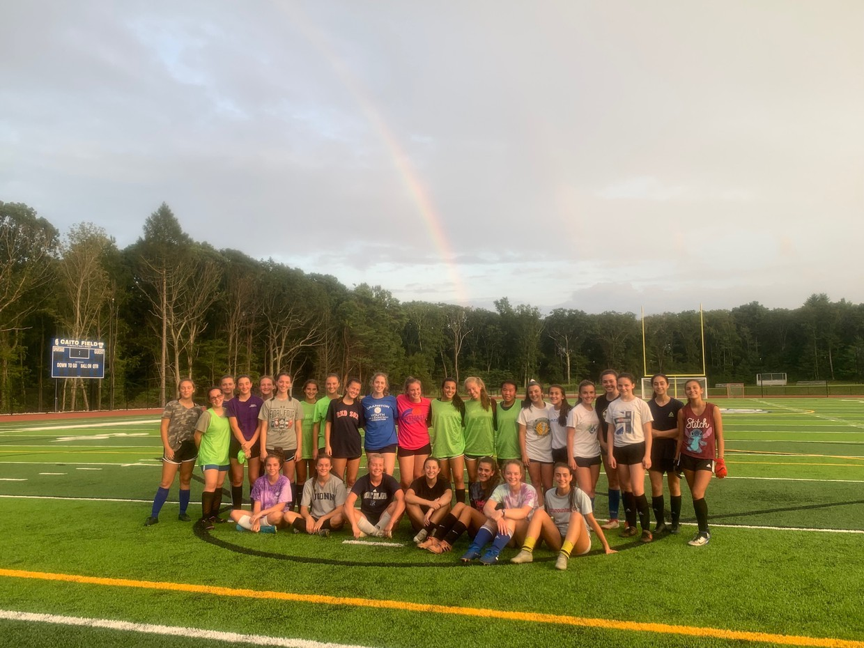 Lady Spartans at their first practice