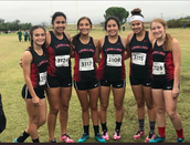 Girls Cross Country consistently placing in the top 5 at meets.