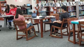 Study groups working in the Library