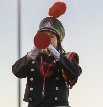 Hilltopper Marching Band Member (student) [photo credit:  Pastor Photography]