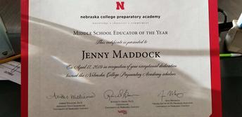 Congrats Jenny Maddock!