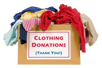 Clothing donation for the Lowell Clinic