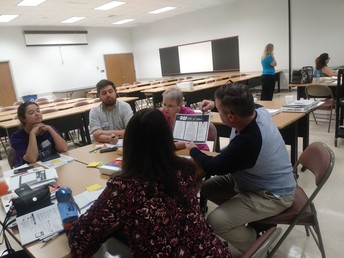 Middle School Teachers Practicing Lions Quest Lessons Together