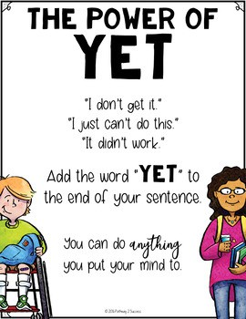 """Growth Mindset: The Power of """"Yet"""""""