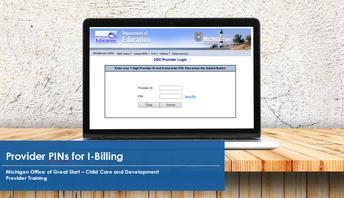 Laptop showing I-Billing home screen