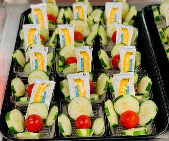 Fresh veggies offered Daily.