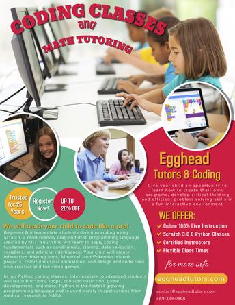Egghead Coding Classes and Math Tutoring