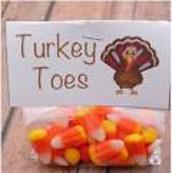 Turkey Toes Candy Gram Sales Wed-Fri