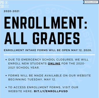 Enrollment for 2020-21 Is Now Open