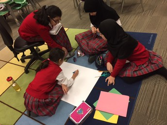 Students are working in the Tajweed poster