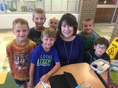 Mrs. Reinke and some of our fantastic first graders!