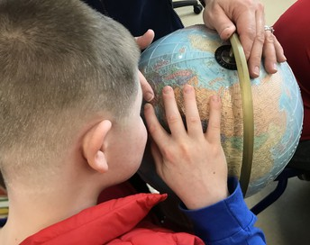 Brandon and tactile globe