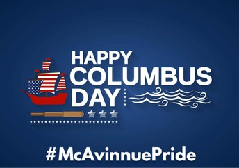 Columbus Day - Monday, October 12th