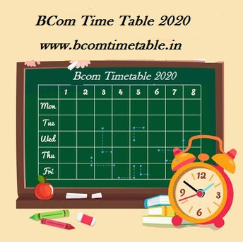 All University BCom Time Table 2020- Check Here