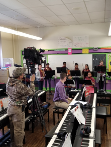 Fox 29 visits Key to film our violin students
