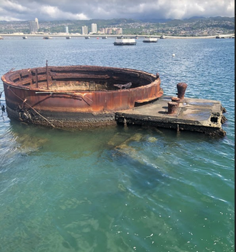 Turret of USS Arizona