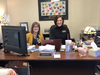 Tonya Gaunt and Stephanie Hime Preparing for Collaborative Webinar