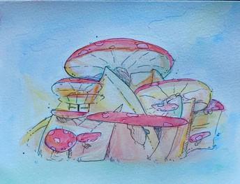 Pastel Toadstools