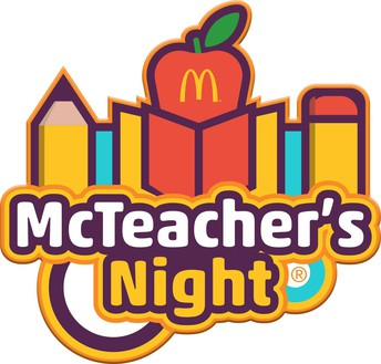 McTeacher Night: Tuesday, October 23rd, 5pm-8pm