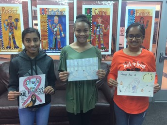 Red Ribbon Poster Contest Winners- 8th Grade
