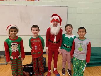 Look at the great Christmas pajamas!