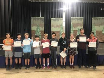 6th Grade Math Award Winners