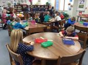 Kindergartners Create Thankful Ornaments