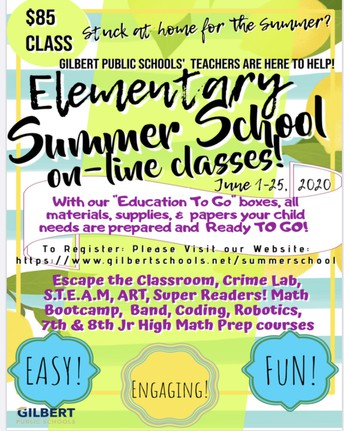 Elementary Summer School Registration