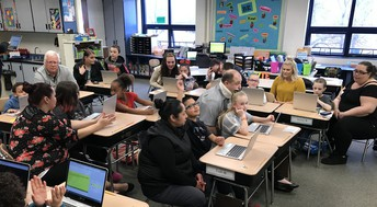 Mrs. Cohen and Ms. Wolvin's class invited VIPs into their classroom to showcase their skills during interactive lessons!