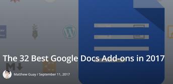 Guest Blog: 32 Best Google Addons