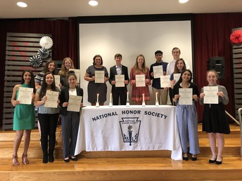 New Members Inducted Into NHS