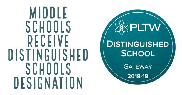 Middle Schools Receive Distinguished Schools Designation