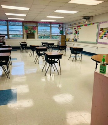 K-2 Socially Distanced Classroom