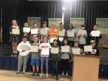 6th Grade PE Award Winners