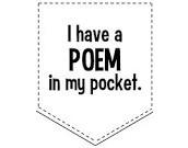 #BePoetic:  Poem In Your Pocket Day - Thursday, April 29