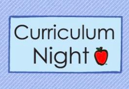 Curriculum Night Schedule