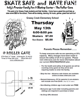 Meet us at the Roller Cave