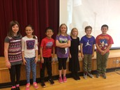 4th graders that received September Perfect Attendance Awards