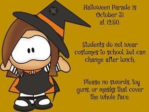 Grant Halloween Parade, Wednesday, 10/31