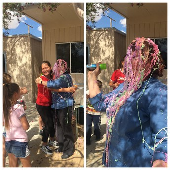 Principal Wahlberg got silly stringed as a fundraiser incentive
