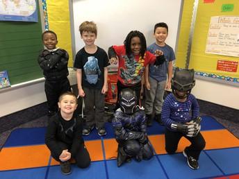 Ms. Gipson's class represents Wakanda!