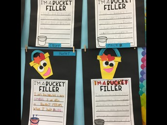 2nd grade writing about how they fill their buckets!