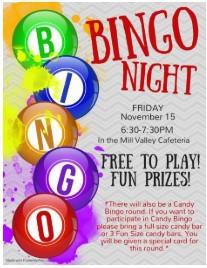 bingo night ~ Friday, November 15th