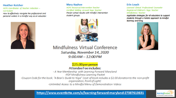 Mindfulness Virtual Conference by Learning Forward Maryland