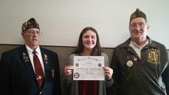 VFW Essay Contest Winner