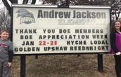 We appreciate our Board of Education Members!